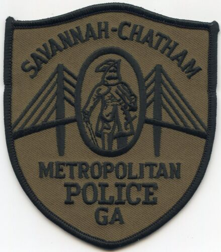 SAVANNAH CHATHAM COUNTY GEORGIA GA subdued METROPOLITAN POLICE PATCH