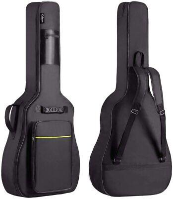 CAHAYA 41 Inch Acoustic Guitar Bag 0.35 Inch Thick Padding Waterproof Dual