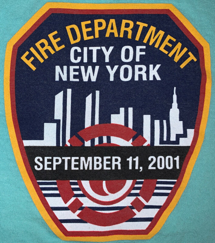 FDNY NYC Fire Department New York City T- Shirt Sz 2XL NYPD 9/11 WTC 343 PAPD