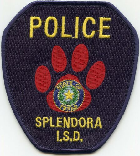 SPLENDORA Independent School District ISD TEXAS TX POLICE PATCH