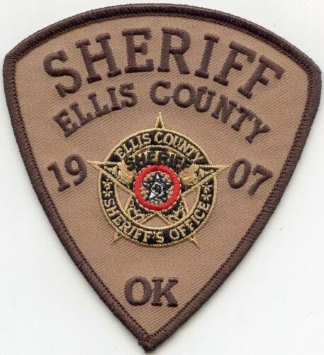 ELLIS COUNTY OKLAHOMA OK SHERIFF POLICE PATCH