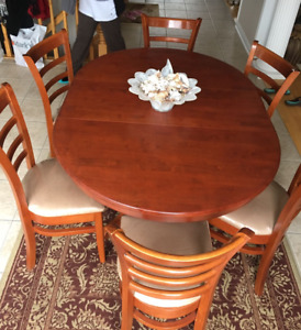 Solid Wood 7 Piece Dining Set
