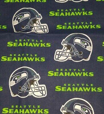 NFL SEATTLE SEAHAWKS 100% COTTON FABRIC  7
