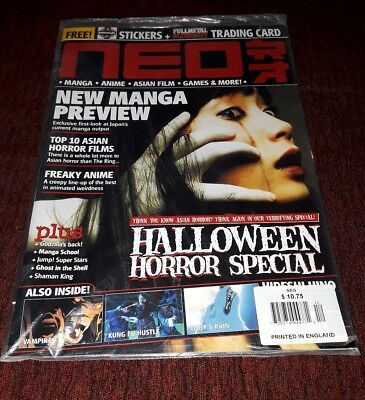 Neo MAGAZINE UK HALLOWEEN HORROR Issue MANGA  Anime Cosplay Manga GAMES - Uk Holidays Halloween