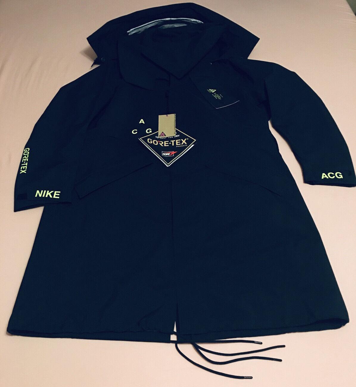 Mens NikeLab ACG GORE-TEX Jacket Coat AQ3516-010 Black NEW S