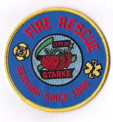 City of Starke Fire Rescue Florida Firefighter Patch NEW!