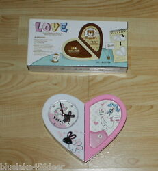 Kids Bunny Alarm Clock w Photo Holder   can be Heart Shaped or Oblong  NIB