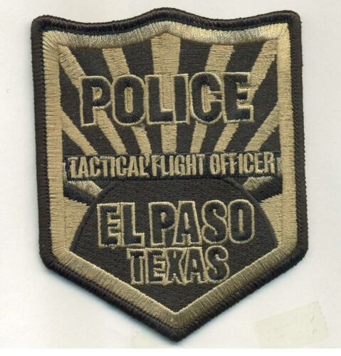 Tactical Flight Ofc El Paso Police State Texas TX Aviation
