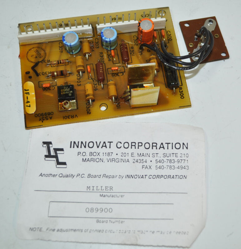 Miller Welder Intellimatic PCB Printed Circuit Board Card  # 089900