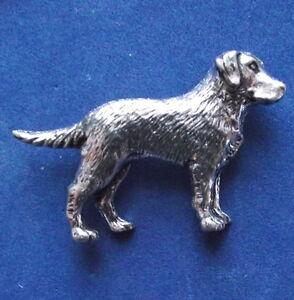Pewter Labrador Retriever Dog Brooch Pin  Quality