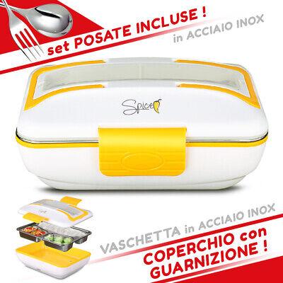 SPICE Amarillo Inox Trio Scaldavivande elettrico vaschetta 3 scomparti Acciaio