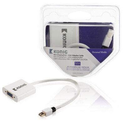 König Mini-DisplayPort-VGA-Adapterkabel, Mini-DisplayPo Leitung Kabel Verbinder (Displayport-vga-adapter)