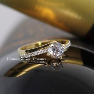 10m gold solitaire ring
