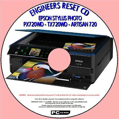 EPSON ARTISAN 800 PX800FW /&TX800FW PRINTER WASTE INK PAD COUNTER ENGINEERS RESET