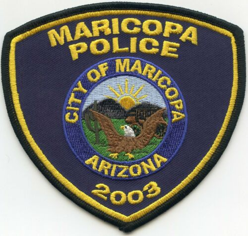 MARICOPA ARIZONA AZ POLICE PATCH