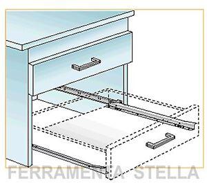Guida guide scorrevoli per cassetti mobili cucina armadio - Guide per cassetti ikea ...