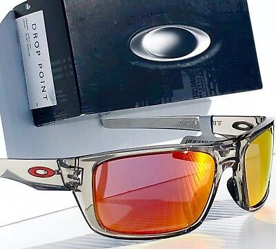 90bc530a22 NEW  Oakley DROP POINT Grey Ink w Ruby Iridium lens Sunglass oo9367-03  Turbine