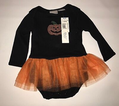 Miniwear Baby Girl Pumpkin Halloween Tutu Outfit Dress One Piece Costume 6-9 M - Baby Pumpkin