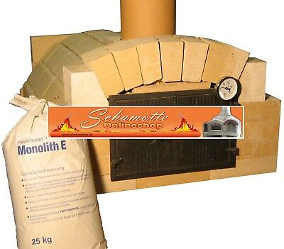 Bausatz Holzbackofen Pizzaofen lebensmittelecht Backfläche 50x50 Premiumqualität