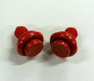 Bally Williams Pinball Machine Opaque Red Flipper Button Set A-16883-4 New!