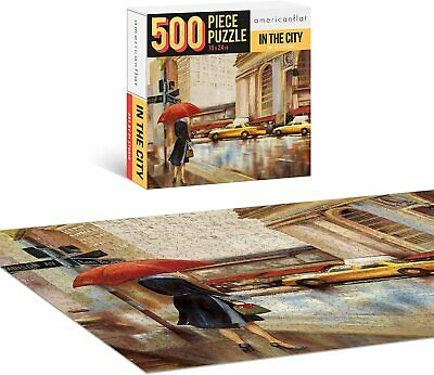 500 Piece Jigsaw Puzzle, 18×24 Inches, in The City Art by PI Creative Contemporary Puzzles