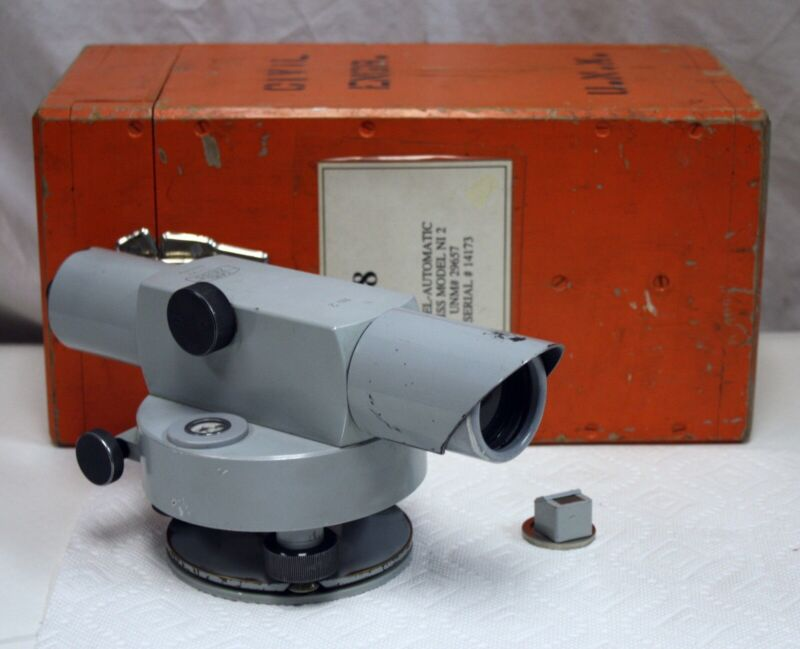 Carl Zeiss Ni2 Engineers Automatic Level with Prism & Carrying Case