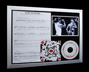 RED-HOT-CHILI-PEPPERS-Under-The-Bridge-LTD-Nod-CD-GALLERY-QUALITY-FRAMED-DISPLAY