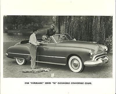 "1948 Futuramic Series ""98"" Oldsmobile Convertible Coupe Original Press Photo"