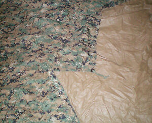 GOOD-Genuine-USMC-Reversible-Digital-Woodland-MarPat-Coyote-Brown-Field-Tarp