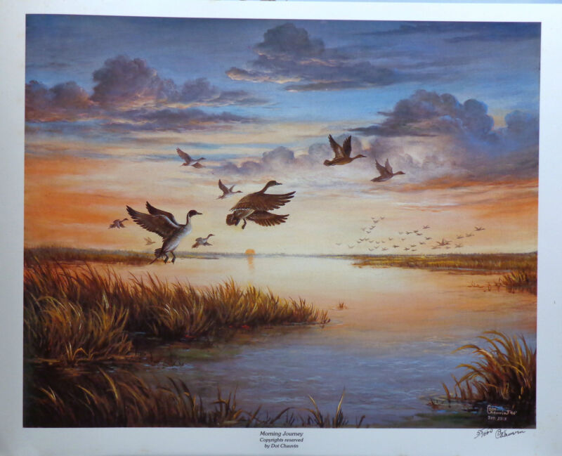 """""""Morning Journey,"""" print of pintail ducks in flight, Limited edition, s/n"""