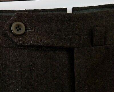 INCOTEX Mens Super 120's Wool Dress Pants Flat Front Dark Brown sz 34 x 32 ITALY