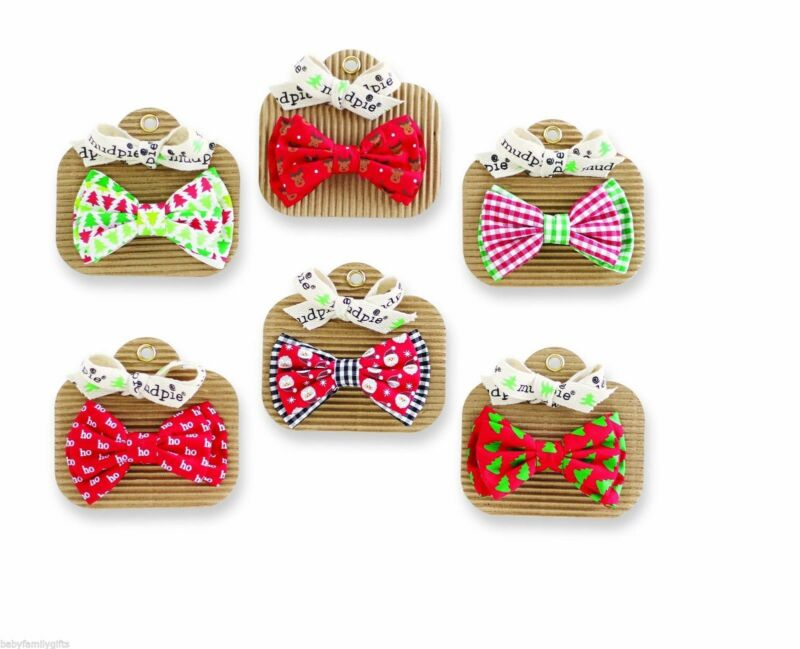 Mud Pie H7 Christmas Holiday Best Baby Boy Bow Ties - Various Styles 1582118