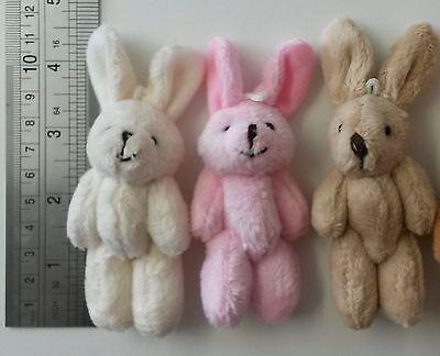 30 x CREAM small Soft & Fluffy plush  bunny rabbits  bunnies Gifts Job Lot