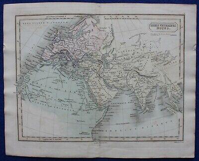 ANCIENT WORLD, 'ORBIS VETERIBUS NOTUS', original antique map, Butler, Hall, 1851