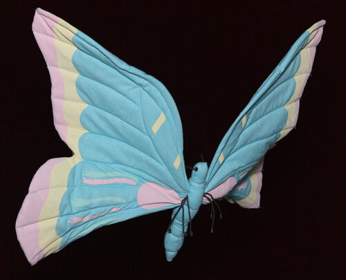 Fabric Hanging Butterfly Kids Room Decor Playroom Baby Nursery Soft Sculpture