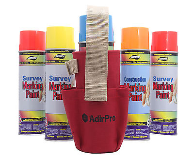 Adirpro Aerosol Spray Can Holder W Pockets Surveying Forestry Outdoor Seco