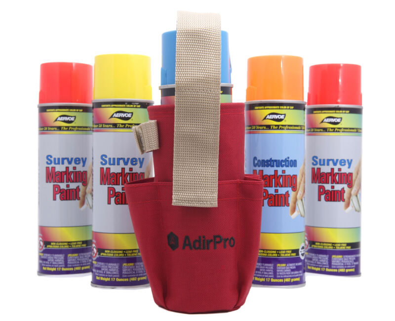 AdirPro Aerosol Spray Can Holder W/ Pockets, Surveying, Forestry, Outdoor, Seco