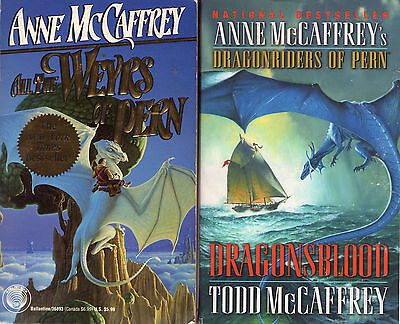Complete Set Series -- Lot of 24 Dragonriders Pern books by Anne McCaffrey, Todd