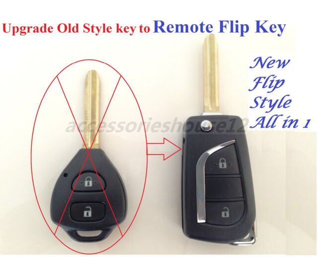 Allin1 Flip Remote Complete Key Toyota COROLLA RAV4 HIACE TARAGO TRANSMITTER FOB