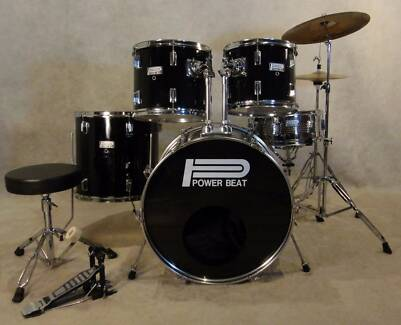 Beginners 5pce drum kit in midnight black finish [DK 0877]