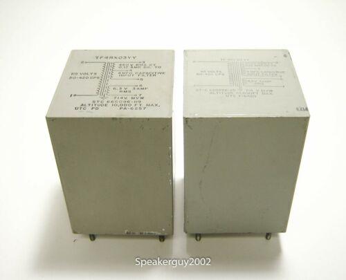 Pair of Vintage UTC Tube Power Transformers / TF4RX03YY -- KT