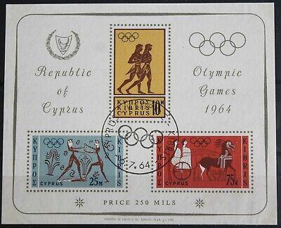 Cyprus – 1964 Olympics – Minisheet – Superb Used (Se1)