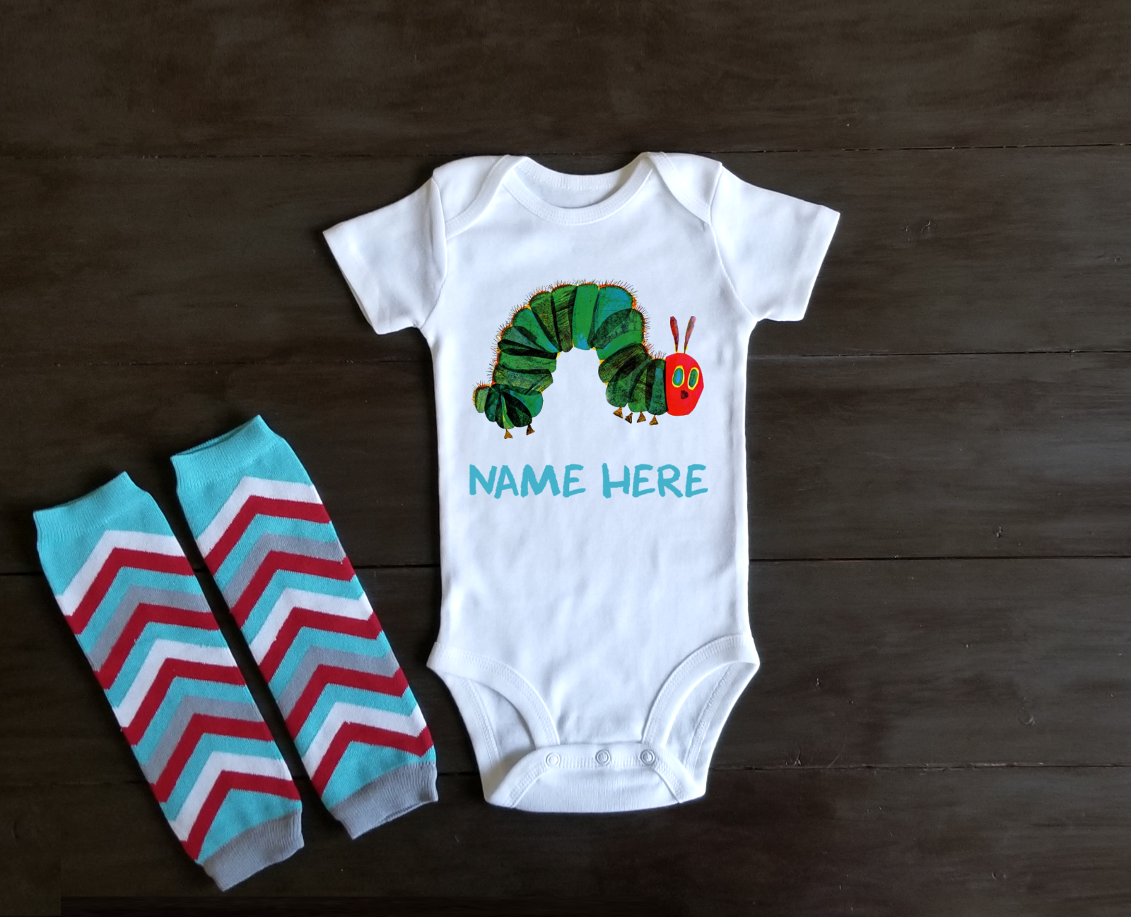a very hungry caterpillar onesie personalized cute