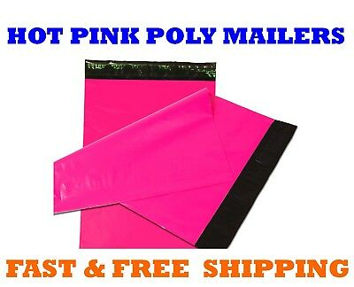 12x15.5 Hot Pink Poly Mailers Shipping Envelopes Sealing Mailing Bags 12 X 15