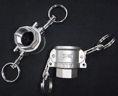 Stainless Steel Cam Lock Adapter 1 Female - 1 Npt Female Nipple Cl13-125