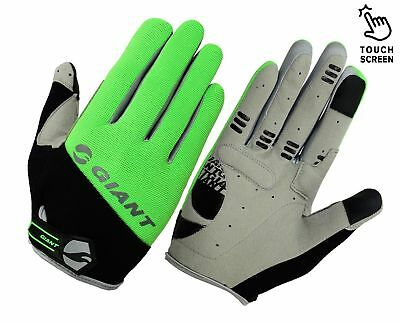 GIANT High Visible Cycling Gloves Touch Screen Bicycle Bike Full Finger Cycle UK