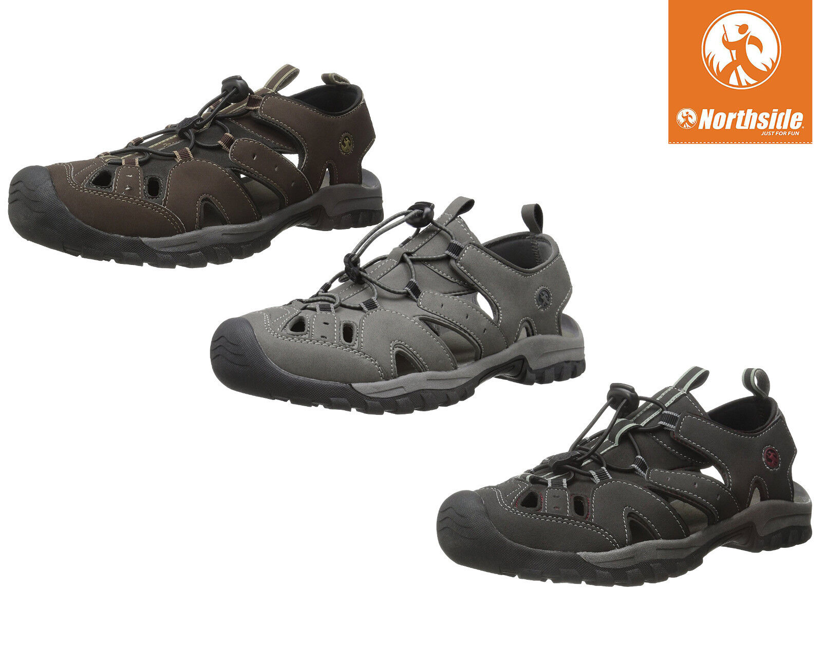 Mens Water Shoes Northside Burke II Sandals Speed Lace Closure NEW