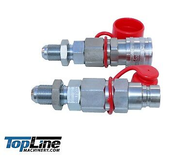 Tl24 10 Jic Thread 12 Flat Face Hydraulic Quick Connect Coupler Skid Steer