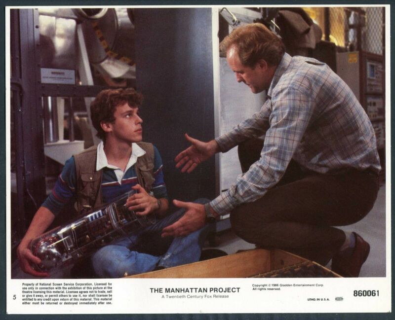 JOHN LITHGOW CHRISTOPHER COLLET The Manhattan Project '86