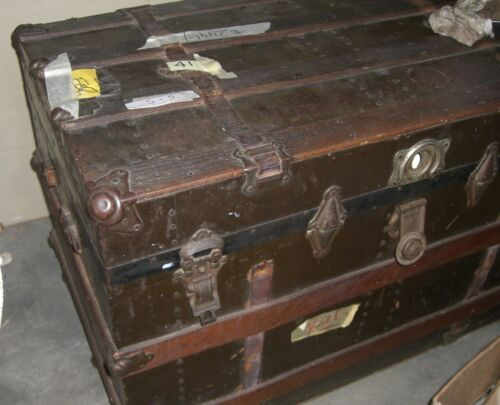 Antique  Flat Travel Trunk